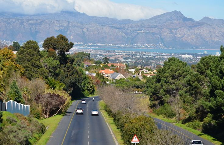 Views from the bridge over the R44 Steynsrust bridge in Somerset West - looking down towards Strand and Gordons Bay. #SomersetWest #Strand #GordonBay #R44