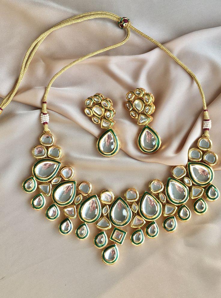 Indian Jewelry, Kundan jewelry, indian bridal jewelry, Kundan Set, Pakistani Jewelry by Glamorze on Etsy