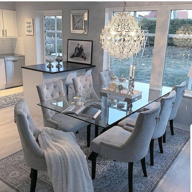 Grace R On Instagram 8220 Elegant Amp Cozy By Homebyleno Lovefordesigns Homedesign Interior Luxury Dining Room Dinning Room Decor Elegant Dining Room
