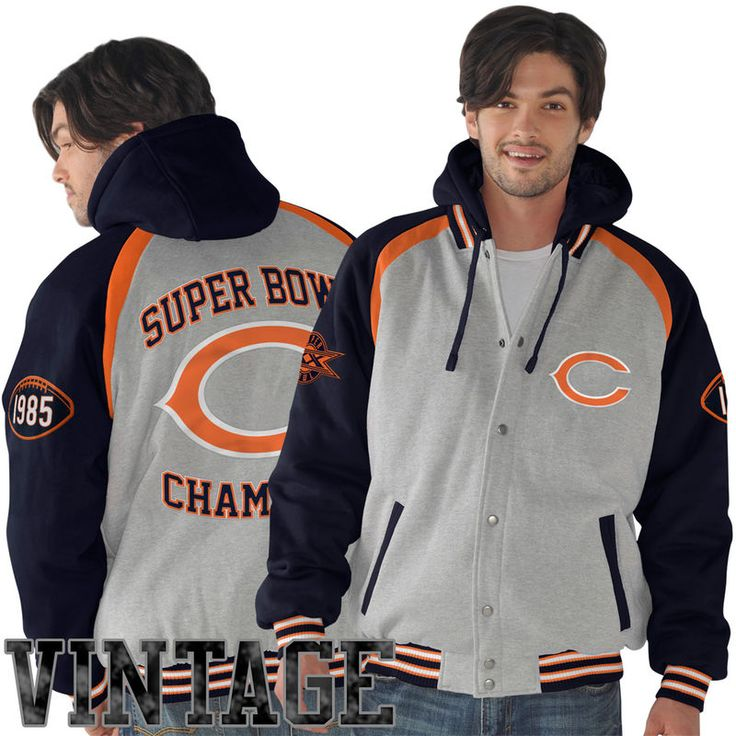 Chicago Bears Rookie of the Year Super Bowl Champions Commemorative Jacket - Ash/Navy Blue