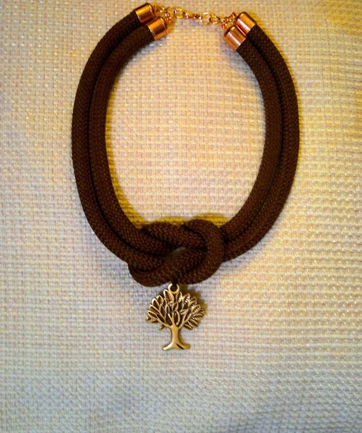 brown tree necklace