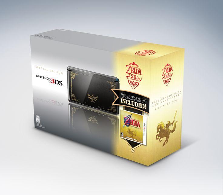 Edição de Colecionador - Todas as edições de Zelda - Collector's Edition Limited Design - 3ds ocarina of time