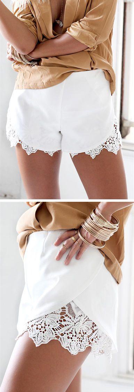 Peekaboo lace shorts