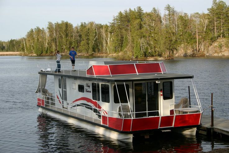 25 best kinsey houseboats images on pinterest floating for Fishing boat rental mn