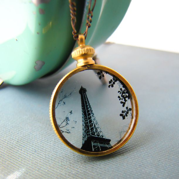 Eiffel Tower Silhouette Necklace by Ornamental Things | Fab.com