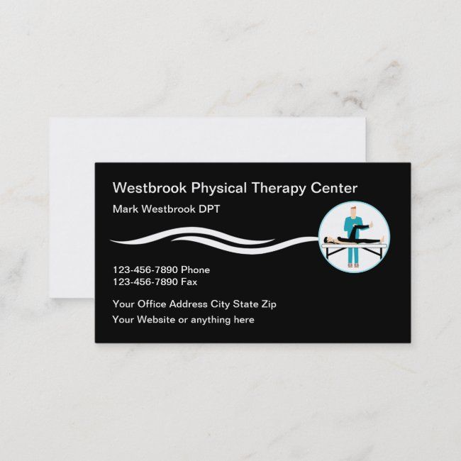Physical Therapy Clinic Modern Business Cards Ad Modern Business Cards Clinic Shop Modern Business Cards Business Card Modern Physical Therapy