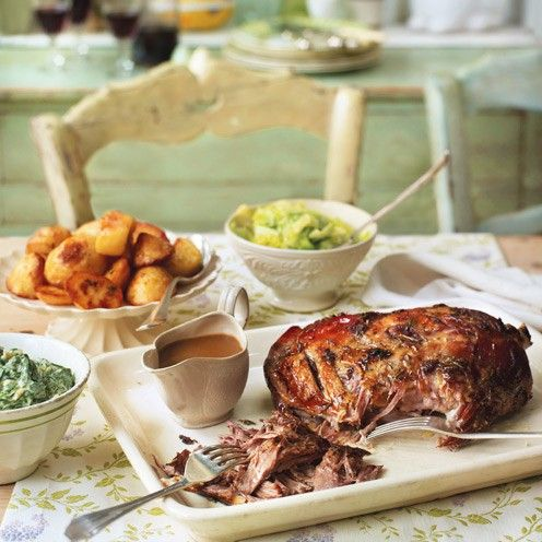 Slow roast lamb shoulder: This meltingly tender lamb is a luxurious yet inexpensive way to feed a crowd at Easter.
