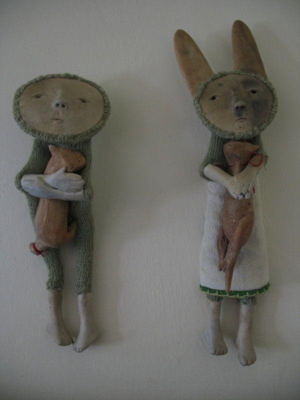 Katie Fitzharris ceramic/fabric creatures