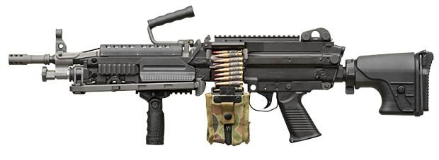The all new FN Herstal MINIMI MK3 machine gun.