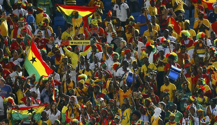 Fans of Ghana wait for the start of their 2014 World Cup Group G soccer match against USA at the Dunas arena in Natal June 16, 2014. (Brian Snyder/Reuters)