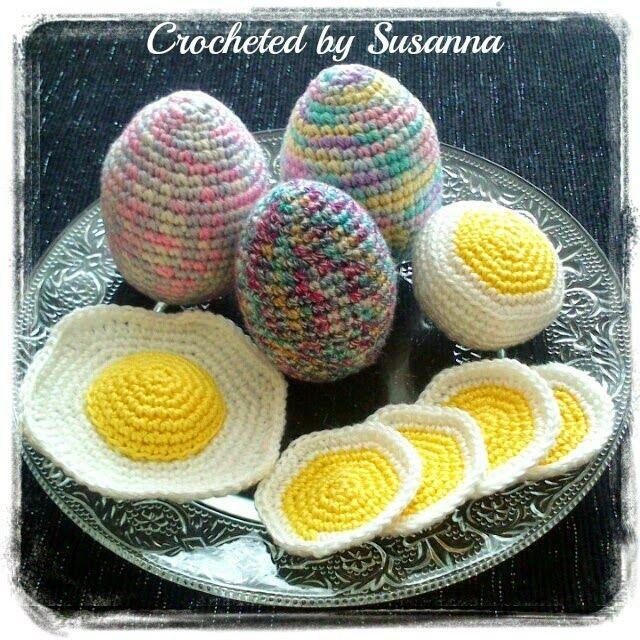 Crochet Egg - Virkade Ägg - Crocheted by Susanna