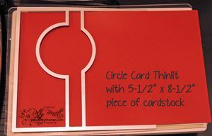 How to make a Circle Thinlit flip card larger than the standard card