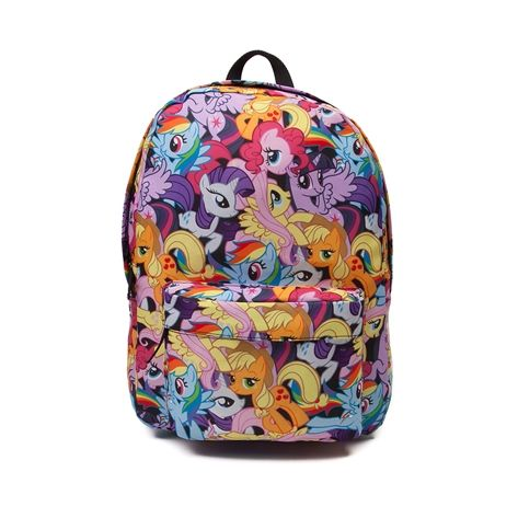 Shop for My Little Pony Characters Backpack in Multi at Journeys Kidz. Shop today for the hottest brands in mens shoes and womens shoes at JourneysKidz.com.My Little Pony Characters Backpack showing off all her favorite ponies in wonder multicolored style. Features allover character graphics, zip closure, front pocket with organizer, padded back, and adjustable shoulder straps.Dimensions L 12 x W 5 x H 16.75