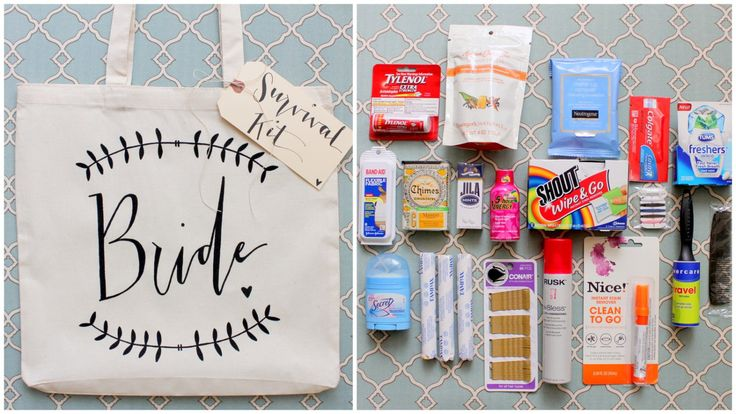 Wedding Day Survival Kit - DIY Bridal Shower Gift. $18.00, via Etsy. this is cute I would switch up a few things inside to make it more fun though