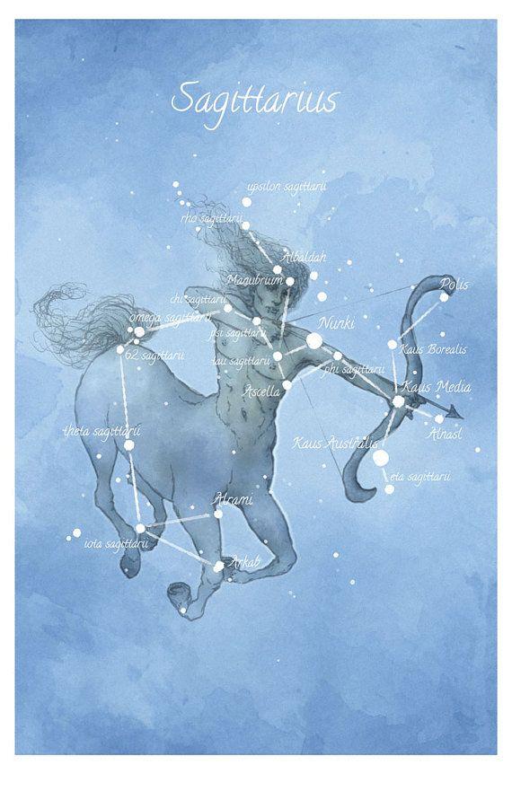Art d'astronomie, constellation du Sagittaire, centaur, impression de main-embellie luminescents étoiles