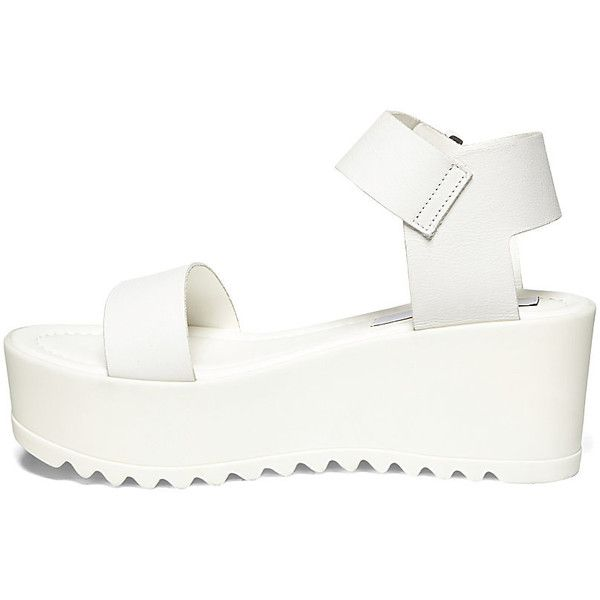 Steve Madden Women's Surfside Platform Shoes White Leather found on Polyvore
