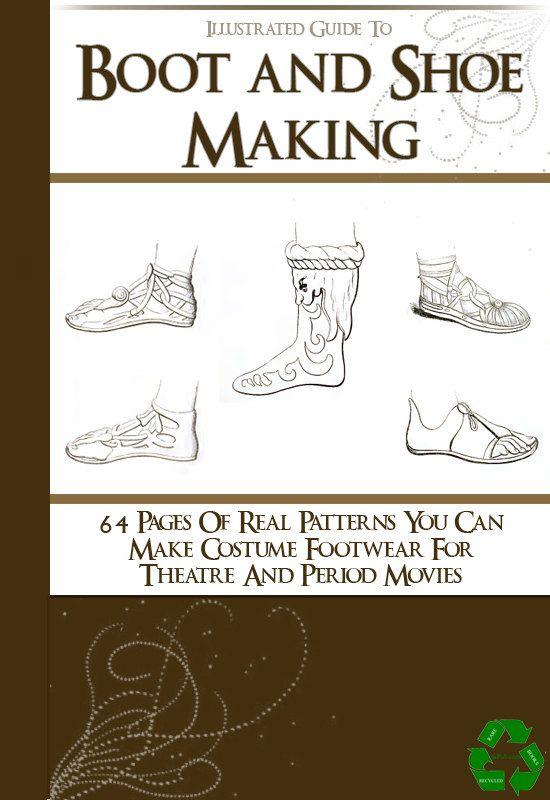 64 Rare SHOE and BOOT PATTERNS  illustrated Book How To Do Boot and Shoe Making