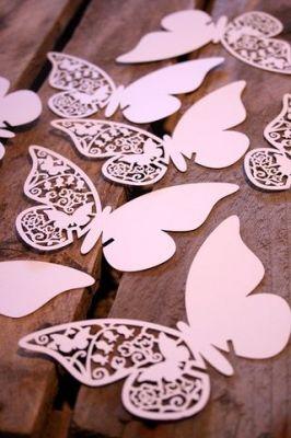 Paper butterflies - could do this using the template card butterflies from Carols