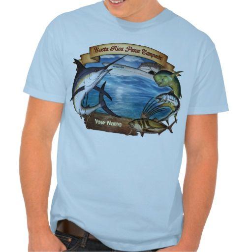 Costa rica fishing champion your name for Costa fishing shirt