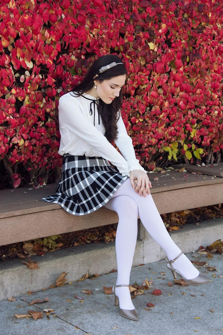 Fashion look from january 2016 featuring pink opaque tights round - White Tights So Difficult So Nice
