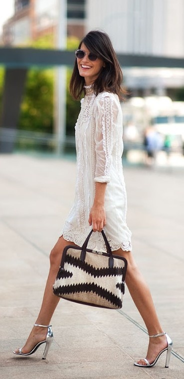 lace dress / ralph lauren