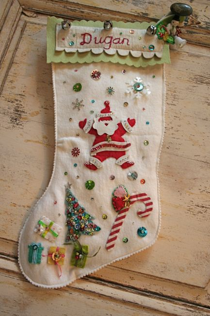 felt stocking {pam garrison}