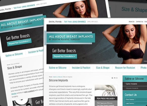All About Breast Implants by Destin Plastic Surgery is a recent #Website design @Etna Interactive just completed. Check out the new site here: http://www.allaboutbreastimplants.com/