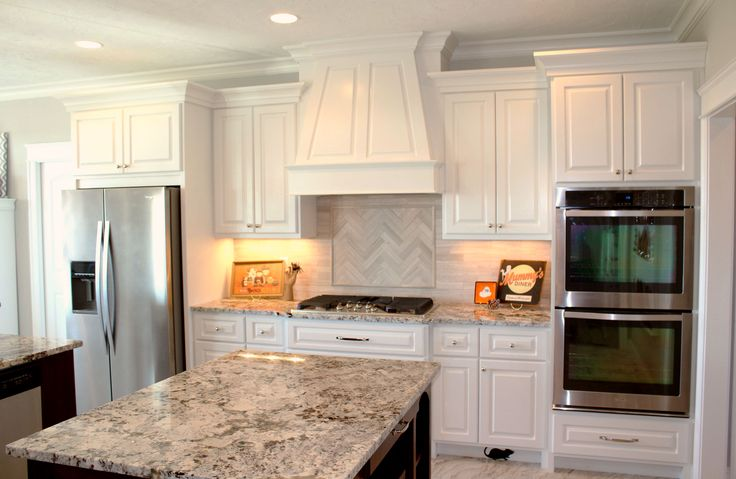 3cm Alaska White Granite Marble Backsplash Triton Stone