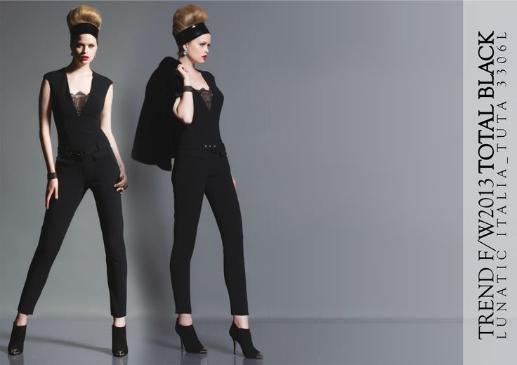 Fall Winter 2013 fashion trend Total black  Lunatic made in Italy