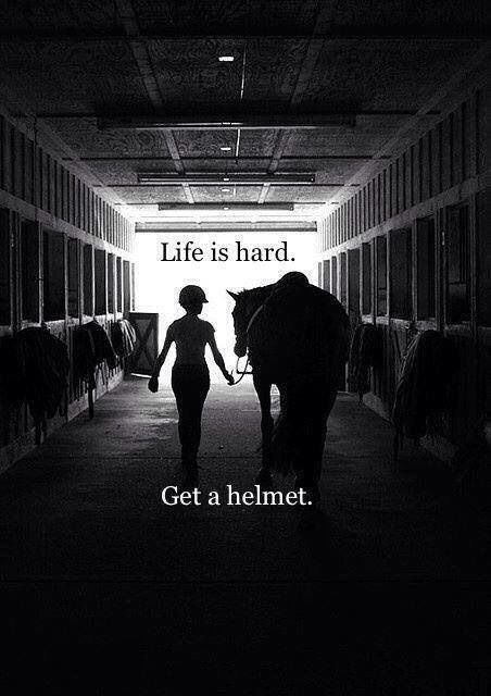 I don't care how good of a rider you think you are, or how safe you think you're horse is, bottom line...things can happen, wear a helmet!!