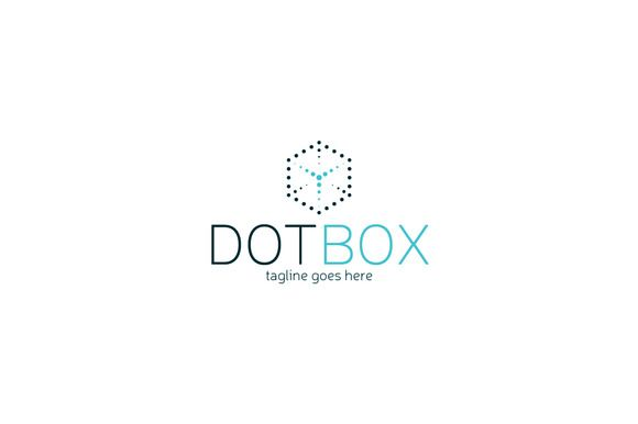 Dot Box Logo Template by Shaoleen on @creativemarket