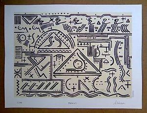 EGIDIO ADDESSE PIANO N°1 STAMPA ARTISTICA 30X40cm NUMERATA E CERTIFICATA