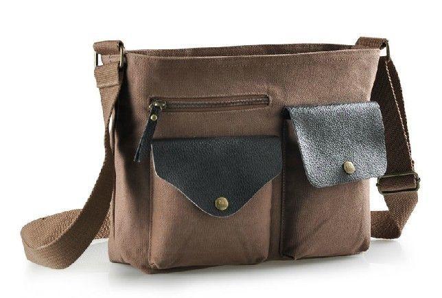 Canvas shoulder bags for school