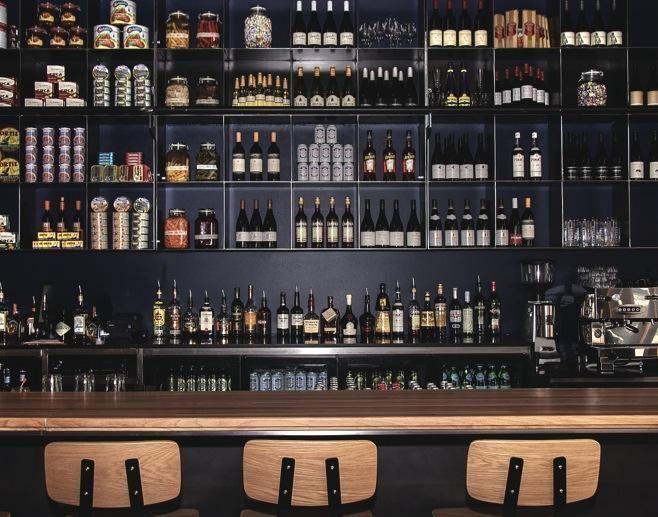 Wonderful Wall Bar Shelves #1 - Industrial Restaurant Bar Shelving