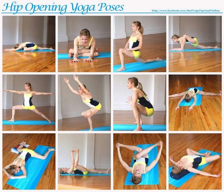Yoga hip stretches. Been doing these a lot since I hurt my hip
