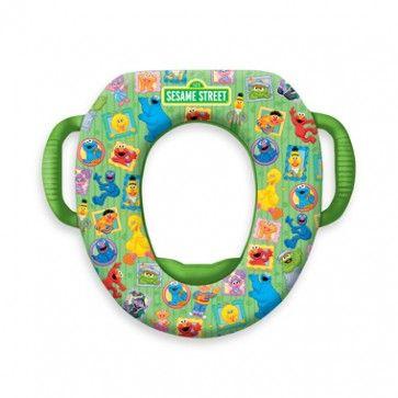 Assento Infantil para Banheiro Ginsey Vila Sésamo Verde  Ensine a sua criança a usar o vaso sanitário com este excelente, seguro e confortável Assento Infantil para Banheiro Ginsei tema Vila Sésamo.