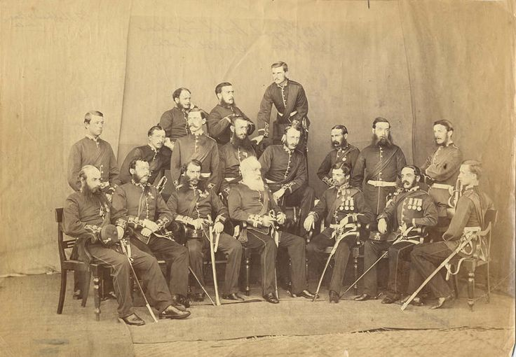 The 1/23rd Royal Welch Fusiliers, Central India, 1865-6.