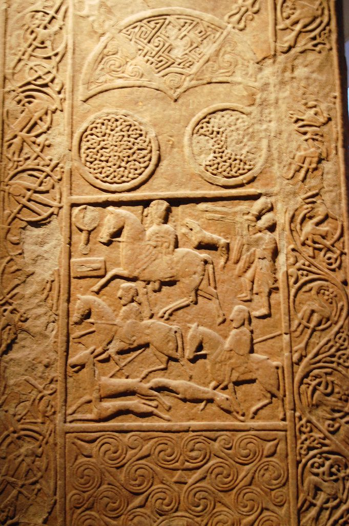Pictish stone with engraved symbols - According to recent discoveries, these pictures and symbols may actually be a written language:  http://news.discovery.com/history/ancient-scotland-written-language.htm
