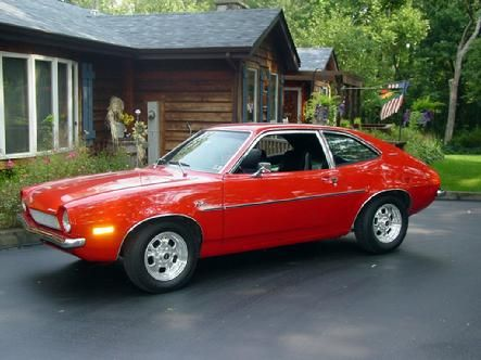1972 Pinto. Cute cars, but not safe to drive, especially if you back into something...