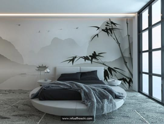 Elegant wall decoration for your bedroom, thank to the exquisite design and to the extreme care for details. Affreschi&Affreschi, the style of your home! #interiordesign #wallpaper #trompe #interior #wall #architecture #design #walldecor #frescoes #affreschi #fresques #frescos #art #mural #decoration #wallart #decorative #decor #bedroom