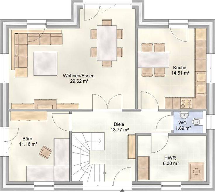 114 besten grundriss bilder auf pinterest architektur grundriss einfamilienhaus und hausbau. Black Bedroom Furniture Sets. Home Design Ideas