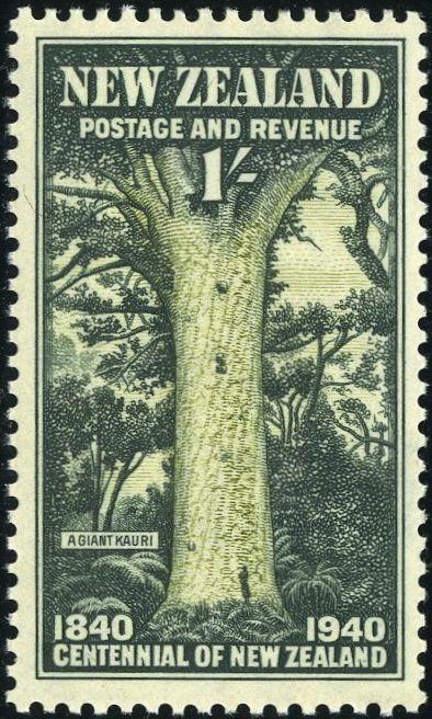 Rey George VI sellos: Nueva Zelanda 1940 (2 8 enero-marzo) Centenario de la proclamación de la soberanía británica SG613 / 25