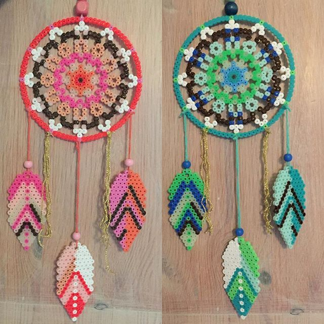 Dreamcatchers hama beads by krudtuglensmor