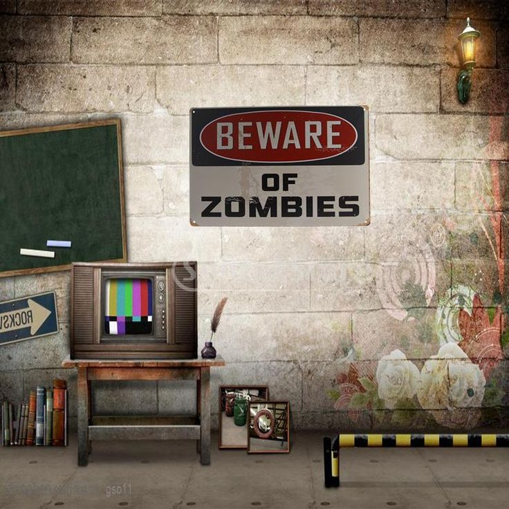 BEWARE OF ZOMBIES Metal Tin Sheet Metal Sign Retro Picture Wall Decor Plaque #Affiliate