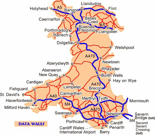 Data Wales: Road map of Wales