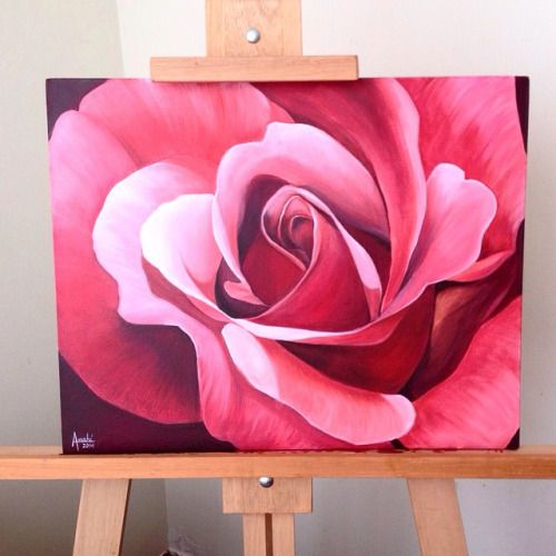 rose acrylic painting - Google Search
