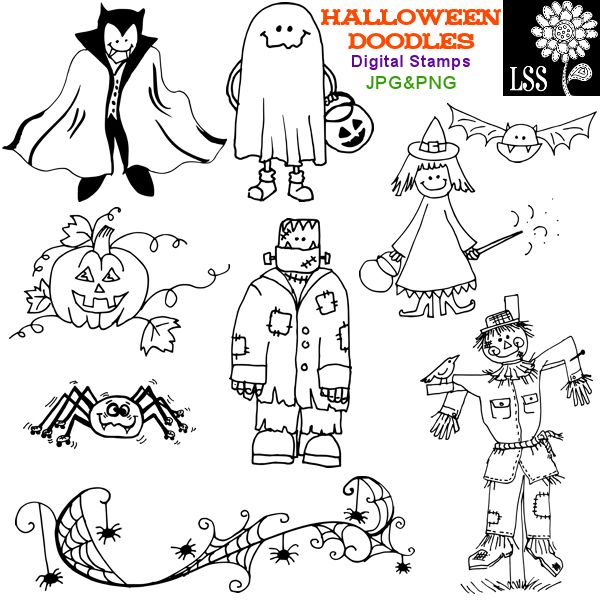 some halloween doodles to try