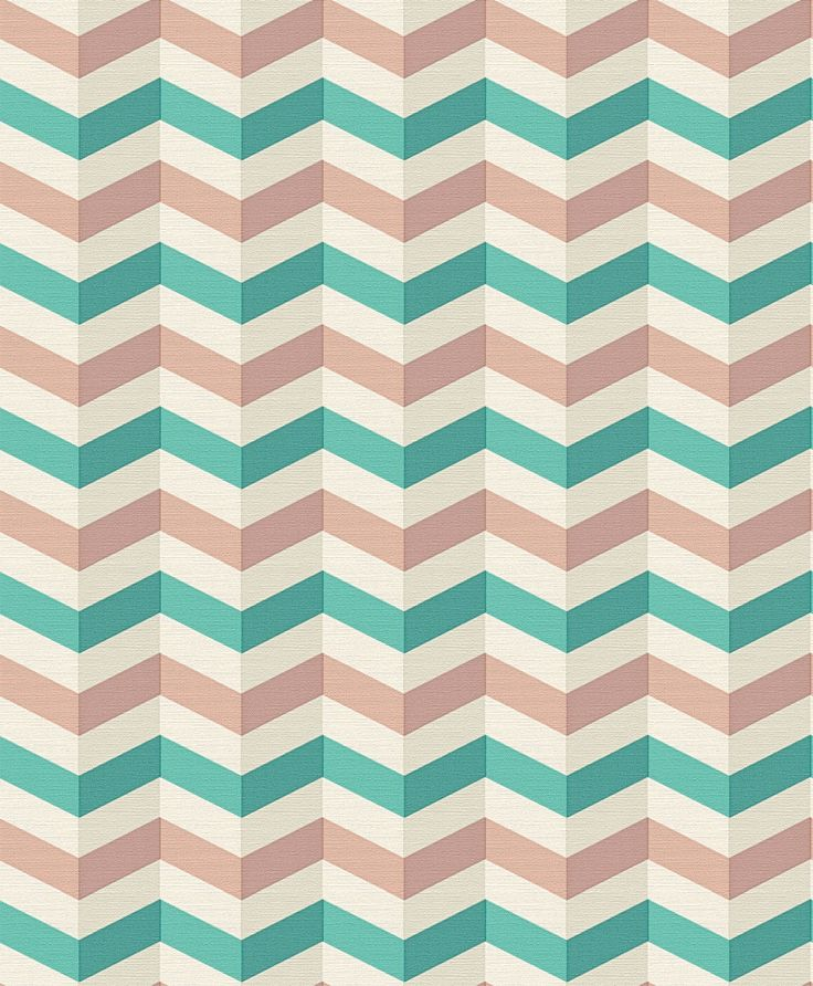 Albany Zigzag Pink and Green Wallpaper main image
