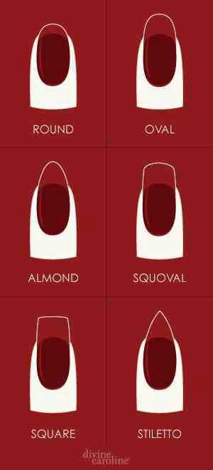 Nail shapes, ladies this is important to know when you go to get your nails done. :)