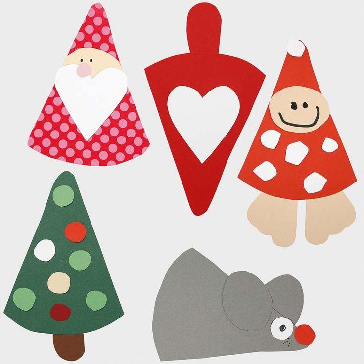 Juleklip - figurer efter fleksibel skabelon |DIY vejledning
